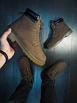 Ботинки мужские на меху тимб кейдж темно-коричневые, фото 3
