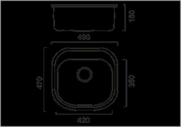 Кухонная мойка из нержавеющей стали ULA 7701 ZS DECOR, фото 2
