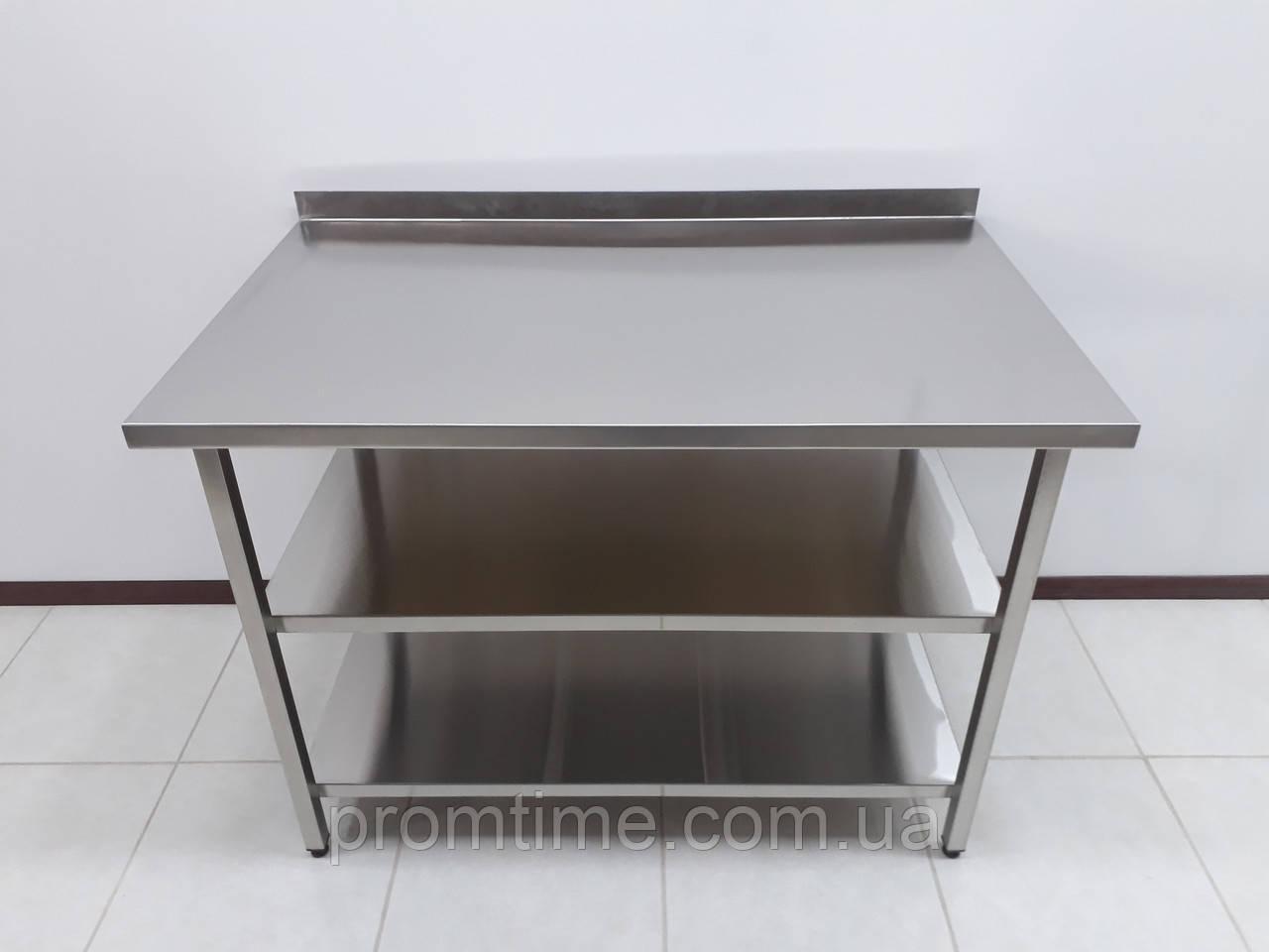 Стол производственный прямоугольный из нержавеющей стали 1000х700х850