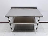 Стол производственный прямоугольный из нержавеющей стали 1000х700х850, фото 1