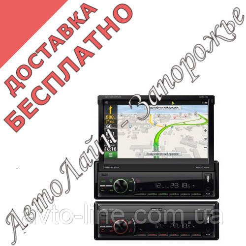 Автомагнитола SHUTTLE SDMN-7060 Bl/Multi (Navitel map) MP5 ресивер, фото 1