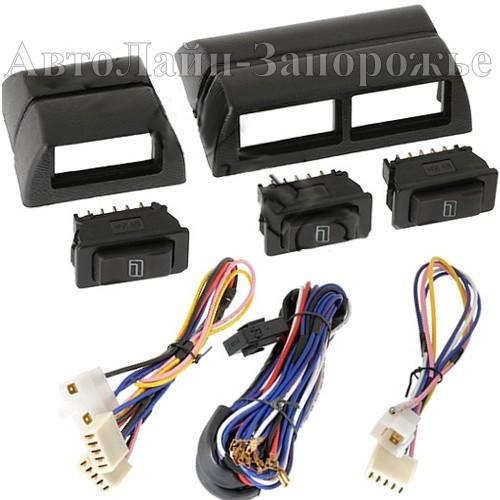 Кнопки c проводами стеклоподъемников Convoy (комплект из 3 штук), фото 1