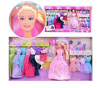 Качественная кукла Барби DEFA  с нарядами и и обувью!