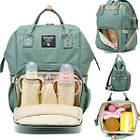 Сумка-рюкзак для мами. Жіночий органайзер для мам і дитячих речей бірюзовий, фото 2