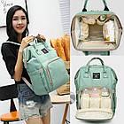 Сумка-рюкзак для мами. Жіночий органайзер для мам і дитячих речей бірюзовий, фото 5