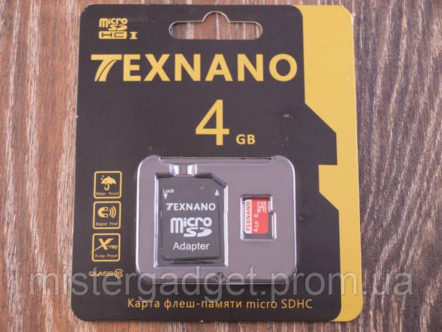 Карта памяти TEXNANO microSD 4Гб