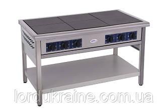 Плита электрическая профессиональная без духовки ПЕ-6 Кий-В