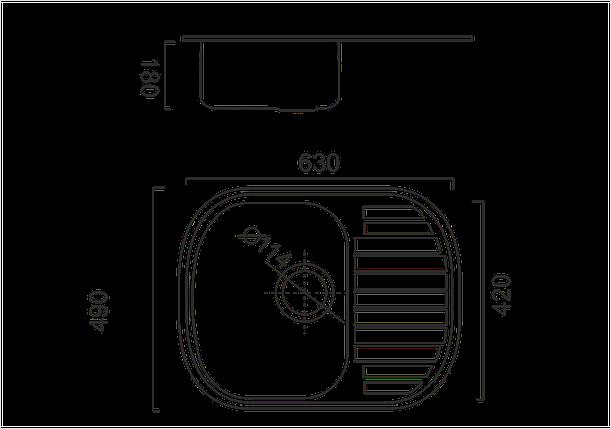 Кухонная мойка из нержавеющей стали ULA 7704 ZS satin, фото 2