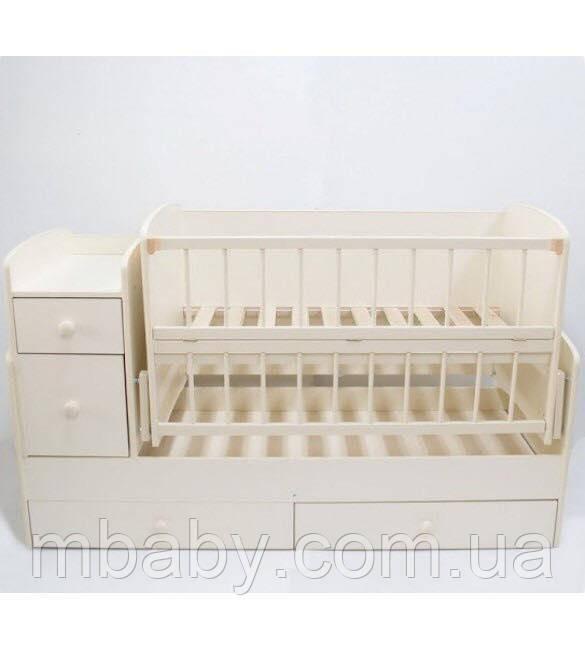 Детская кроватка трансформер  №1 (Слоновая кость)