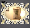 Дзеркало настінне Valencia у білій рамі з золотом, фото 3