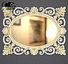 Зеркало настенное Valencia в раме белой с золотом, фото 2
