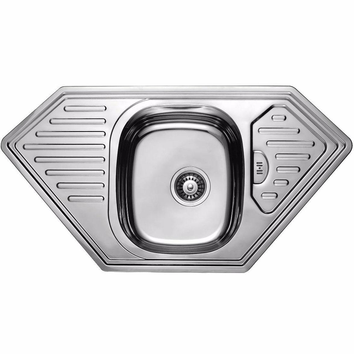 Кухонная мойка из нержавеющей стали ULA 7801 ZS DECOR