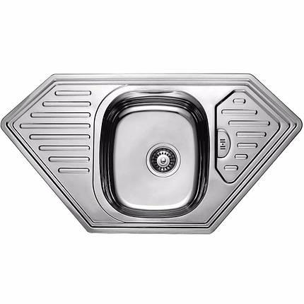 Кухонная мойка из нержавеющей стали ULA 7801 ZS DECOR, фото 2