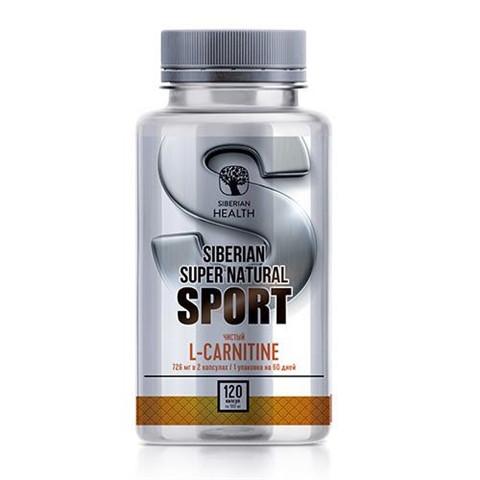 L-карнитин 120 таблеток Siberian Super Natural Sport. L-карнiтин Сибирское здоровье