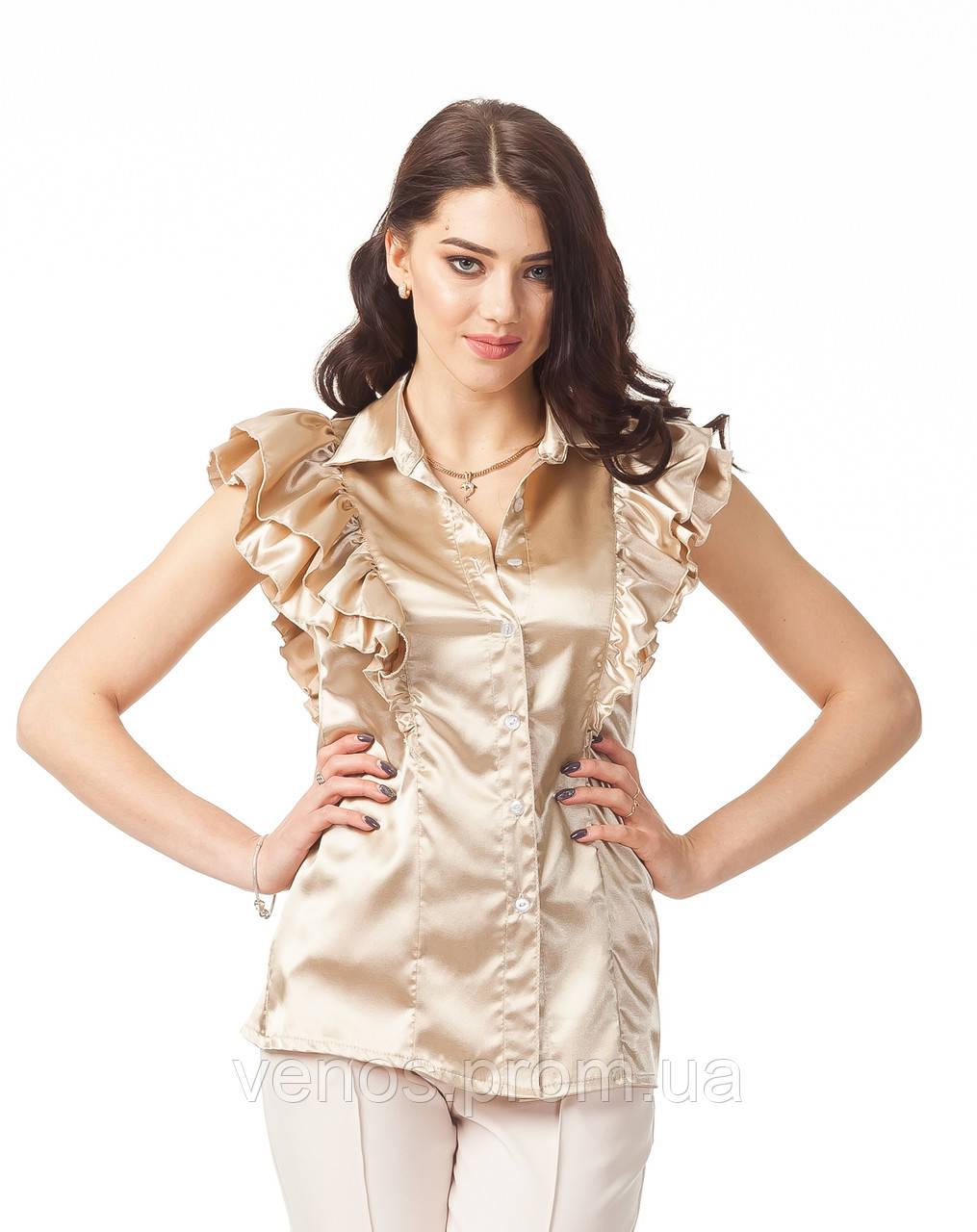 Женская блуза с воланами. К089