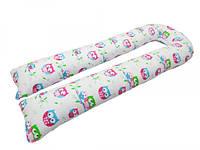 """Подушка для беременных KIDIGO """"U образная"""" 145х55х15.5 см Сова (PDV-U1)"""