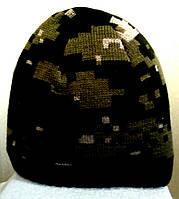 """№16 - Вязаная шапка зимняя """"Колпак"""" прямая с флисом на всю голову."""