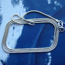 Серебряная цепочка, 500мм, 4 грамма, плетение Снейк, фото 3