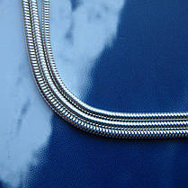 Серебряная цепочка, 500мм, 5 грамм, плетение Снейк, фото 3