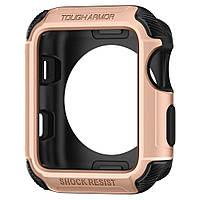 Чехол Spigen для Apple Watch Tough Armor 2 (42mm), Blush Gold (059CS22633), фото 1