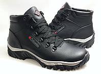 Мужские Зимние Кожаные ботинки Columbia model К-5 чёрные Польша