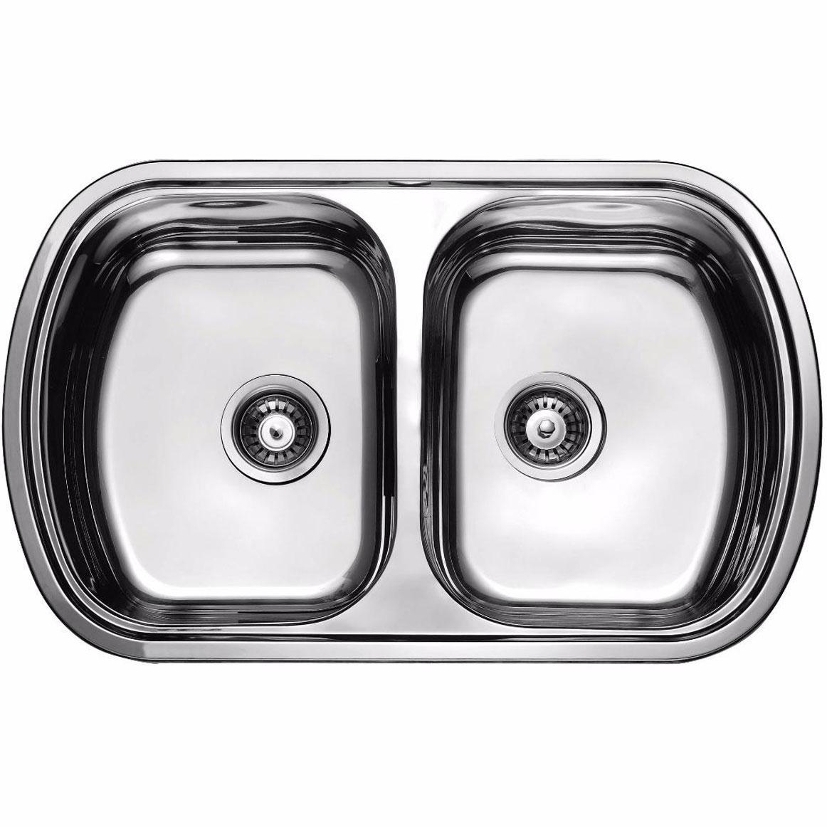 Кухонная мойка из нержавеющей стали ULA 7702 ZS DECOR
