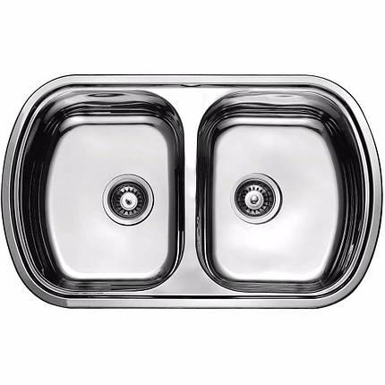 Кухонная мойка из нержавеющей стали ULA 7702 ZS DECOR, фото 2