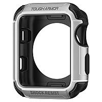 Чехол Spigen для Apple Watch Tough Armor™ 2 (42mm) Silver, фото 1