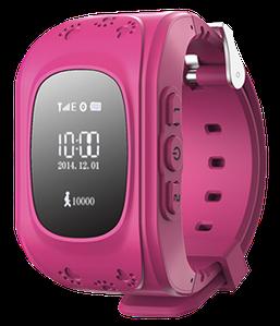 Детские умные часы с gps Q50 розовые