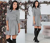 1c0b78c97c8 Романтичное платье из ангоры-софт с рукавом три четверти 44