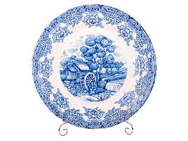 Блюдо керамическое Синяя мельница 30 см 910-011