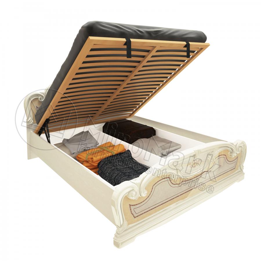 Кровать 180х200 Мартина с подъемником и каркасом Миро-Марк
