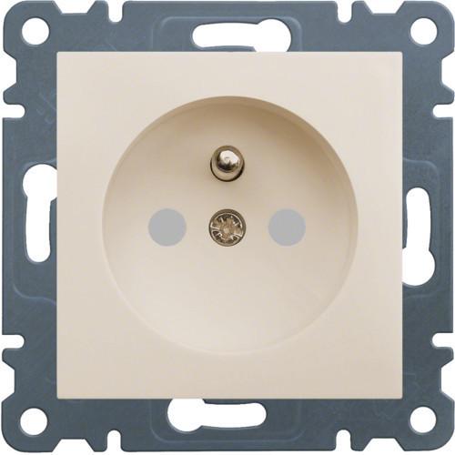 Розетка с з/к с защитой контактов LUMINA2 Hager крем WL1061