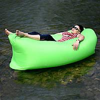 Всесезонний надувний ламзак AIR CUSHION зелений