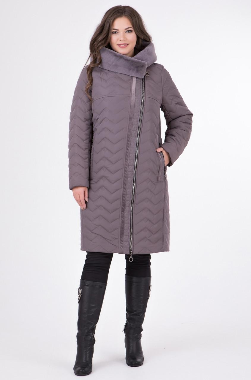b2b43f9473f Зимняя куртка женская пальто больших размеров теплая (батал) - Интернет  магазин Sport-sila
