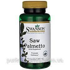 Со Пальметто, Swanson Saw Palmetto 540 mg 100 капсул