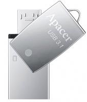 Apacer USB 32Gb AH750 Gen1 Mobile Silver USB 3.1