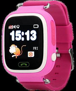 Детские умные часы с gps Q90 розовые