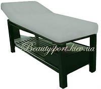 Велюровый чехол на массажный стол (серый)