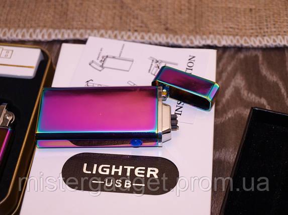 Импульсная зажигалка Lighter USB Подарочная, фото 2