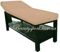 Махровый чехол на массажный стол (хлопок) капуччино