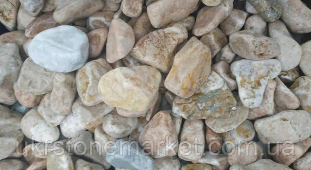 Галька мармур персик 20-40