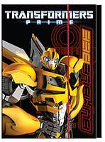 Папка картонная для тетрадей на резинке В5 KITE 2014 Transformers 210