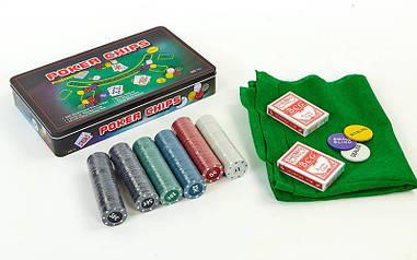 Покерный набор в металлической коробке-300 фишек IG-4394