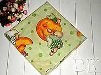 Комплект детского постельного белья 3 зеленый Мишка на луне