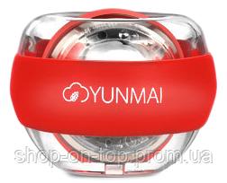 Гироскопический тренажёр для рук Yunmai Gyroball Red