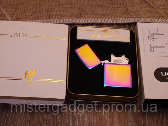 Импульсная зажигалка Jinlun USB Подарочная, фото 2