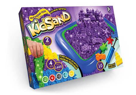 """Кинетический песок """"KidSand"""" 1600г + песочница (5), фото 2"""