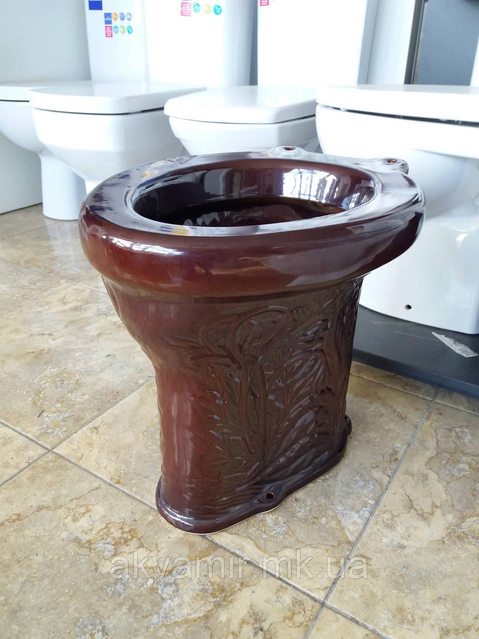 Унитаз Дачный (пенек) коричневый