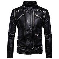 Куртка кожаная для байка,косуха мужская с натуральной кожи.L.